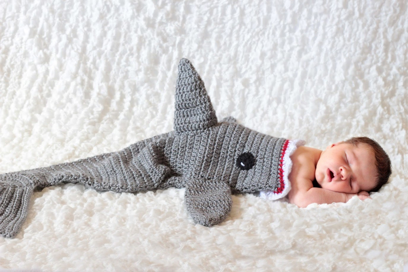 Knitting Pattern For A Shark Blanket : Shark Blanket Cocoon Crochet Shark Blanket Shark Baby
