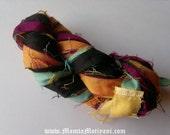 Dupioni Silk Ribbon, Recycled Sari Yarn, Sari Silk Ribbon, Sari Ribbon, Ribbon Yarn, Recycled Sari Silk Ribbon, Sari Yarn, Silk Sari Ribbon