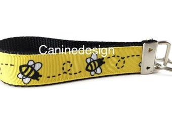 Bumblebee Keychain, Key fob, Wristlet