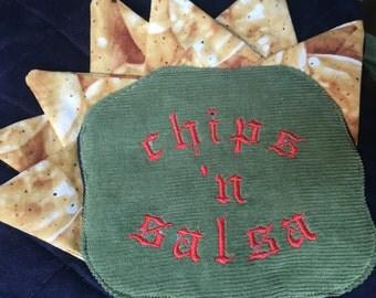Chips and Salsa Lover Zipper Bag
