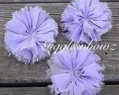Chiffon Twirl Flowers- Lavender 3 inch - Fabric Flowers, Flowers for Hair, Flowers for Headband, DIY Hairbow Supplies- Ballerina Flowers