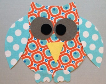 Fabric Iron On Owl Applique