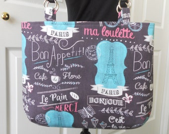 "Handmade Purse...The ""Kaylee""...in ""Everything Paris"""
