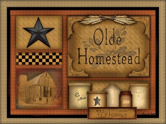 Primitive Wall Decorcrocksolde Homesteadwood By Thecountrynest