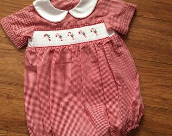 Private Listing for Camillia - 2 Baby Boy's, toddlers Hand Smocked Bubble - Sz 6m