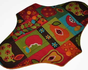 Moderate Core- Fruit Basket Reusable Cloth Maxi Pad- 10 Inches (25.5 cm)