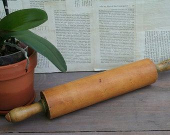 Vintage Solid Wood Rolling Pin