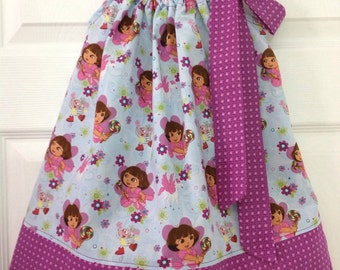 CLEARANCE - Size 2 Dora the Explorer Pillowcase Dress