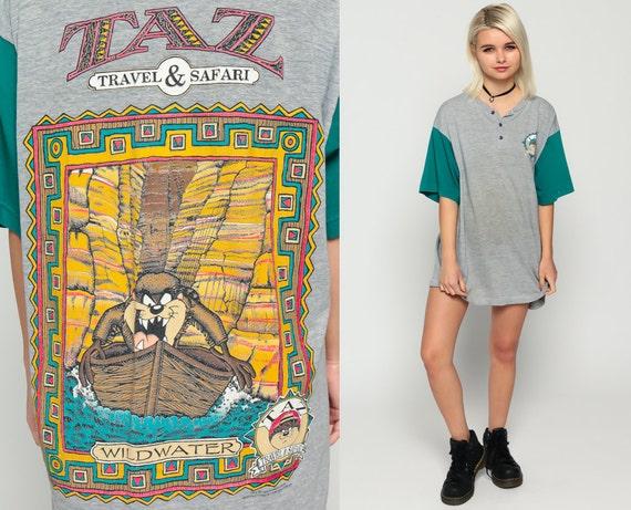 Looney Tunes Shirt Taz Tshirt Travel Safari Cartoon Animal