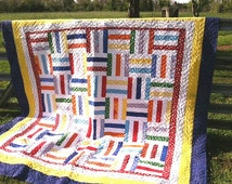 Unique Rail Fence Quilt Related Items Etsy