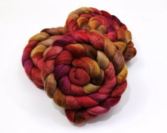Merino Wool/ Yak/ Silk Roving (60/20/20) (Combed Top) - Hand Painted Spinning Fiber