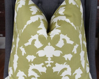 Duralee Silhouette Pillow Cover, Decorative Pillow, Throw Pillow, Chartreuse, Home Decor, Home Furnishing
