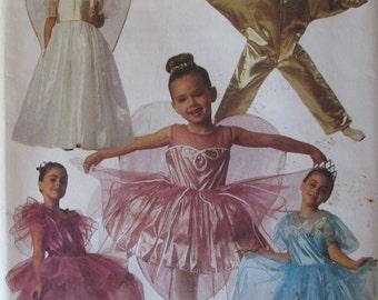 McCalls 5613/Uncut Sewing Pattern/Girls Storybook Costumes/Size 8, 10/Fairy Queen/Fairy Princess/Tinker Bell/Ballerina/Star/1991