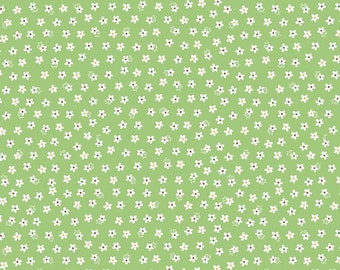 Calico Daisy Green- Calico Days by Lori Holt for Riley Blake-C6034-Green