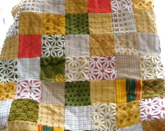 AUTUMN BLISS ~ a Made-to-Order Vintage Cotton Chenille Patchwork  Quilt