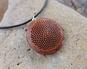 Flower of life - Fractal jewelry - Fibonacci sequence necklace - Protea handmade into natural mandala jewelry