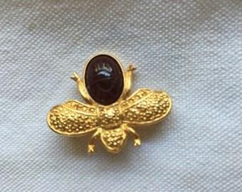 Vintage Scarab Bee Bug Pin