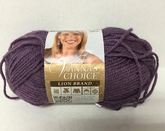 Lion Brand Vanna's Choice Yarn - Dusty Purple