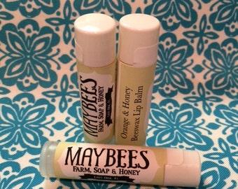 Maybee's Orange & Honey Beeswax Lip Balm