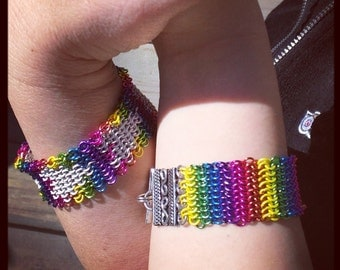 Matching LGBTQ and Ally Bracelet