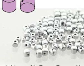 free UK postage 5 grams Minos Beads Silver Aluminium Mat MNS253-00030-01700