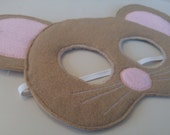 Wool Mouse Mask - Camel Colored Mouse Mask - Only One - Order Now for Halloween - Ready to Ship
