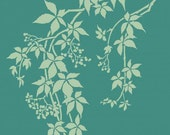 Virginia Creeper Craft Stencil - Size Small - Better than Decals! Great for DIY Craft Projects