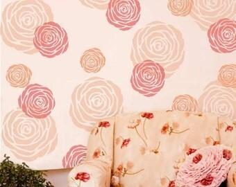 Rose Wall Art Stencil - Medium - DIY Home Decor - Better than Decals