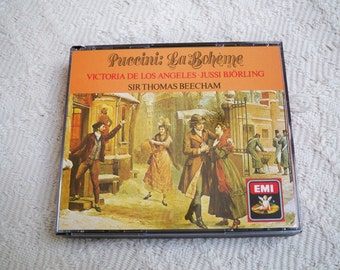 "Vintage Music CD Puccini ""LaBoheme"" Digital Remastering 1986 EMI Records"
