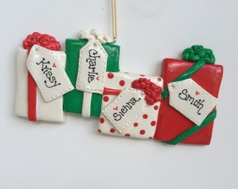 New for 2016...Personalized Family of 4 Christmas Gifts Ornament/family of four /family ornament  , personalized ornament