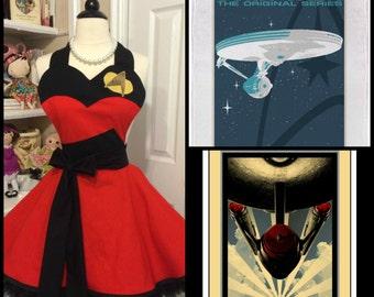 Retro Star Trek apron from the original 1960's series