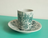 Limited edition plate and cup set by Nymolle Art Faience Hoyrup