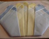 3 Vintage Cotton Hankerchief 1960s original packaging