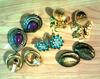Vintage Lot of Six Earrings