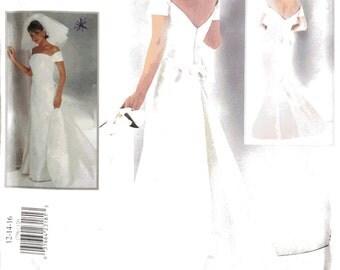 Vogue 1756, Vera Wang Wedding, Dress Sewing Pattern, 12-14-16, Designer