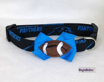 Carolina Panthers Dog Collar XS through Large by Doogie Couture Pet Boutique