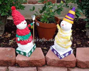 Decorative Snowman  - Table centerpiece, Secret Santa, winter decor, snow couple