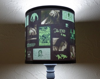 Green Horror Lamp Shade Lampshade - halloween, lighting, horror movie, night of the living dead, green, geek decor, cool gift, spooky shades