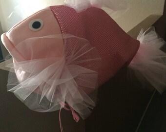 Pink beta fish costume