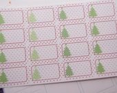 Christmas Tree Planner Stickers 16 Stickers Reminder Stickers Scrapbook Stickers Winter Stickers PS240 Fits Erin Condren Planners