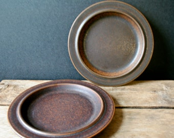 Arabia Finland Ruska Salad Plates Ulla Procope Set of 2 FREE Shipping