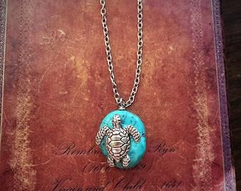 Little Silver Turtle Necklace
