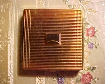 Vintage ELIZABETH ARDEN Compact NUSED Puff 50s/60s For Loose Powder Stylish Chic