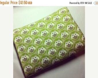 Sale - Swaddling Blanket - Green Owls - X-Large - Ultra SOFT