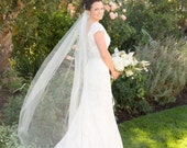 Floor length Simple abusymother wedding veil Single layer  white, ivory or diamond