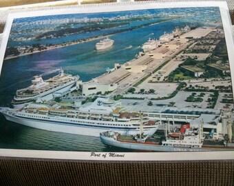 port of MIAMI laminated placemat