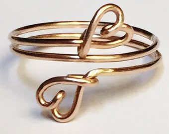 Heart Ring  Rose Gold Heart Ring   14K Gold Filled Ring  Valentine Jewelry  Rose Gold Rings For Women