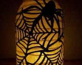Primitive Halloween Spiderweb Lantern
