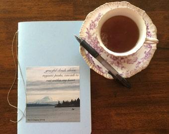 Moleskine Style Hand Stitched Journal - Lovely Haiku Poem