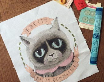 Pretty Kitty Canvas Patch